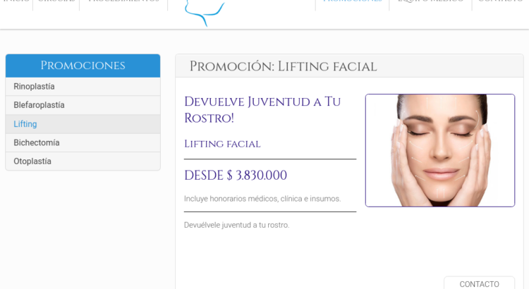 Lifting facial en Chile