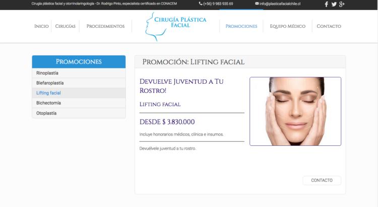 Rejuvenecimiento facial en Santiago