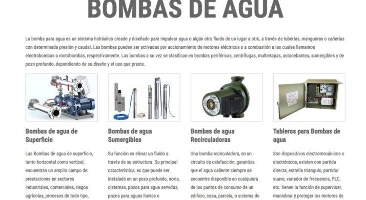 venta de Bombas de pozo profundo en chile